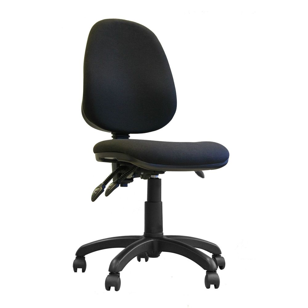 Java 300 Three Lever, High Back, Operator Chair. Red, Blue, Green or Black